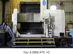 YouJi Vertical Lathe 2000 ATC+C  w/ Live Milling